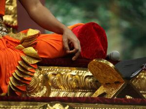 Meditación mudra adornos
