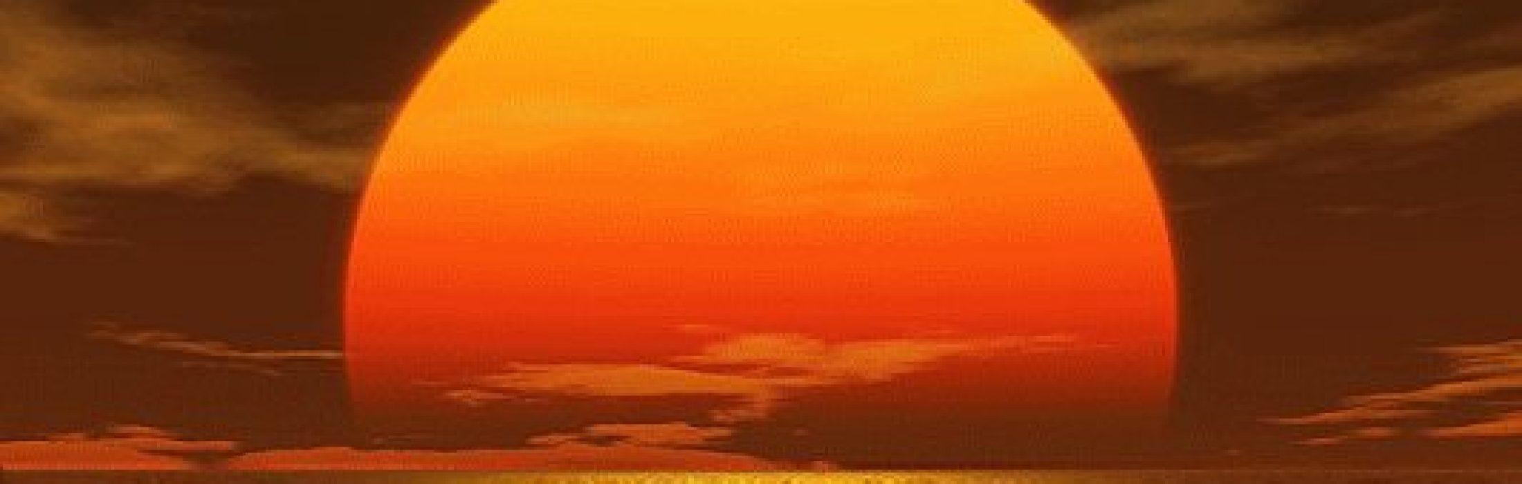 Sol en el mar